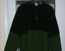 Mens Vintage 90's Horny Toad Mossy Green Fleece Pullover Shirt Jacket XL