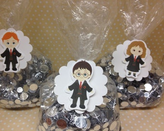 Harry Potter Party Candy or Favor Bags with Tags - Set of 10