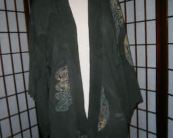 Women's Kimono Top - Shades of Moss Green