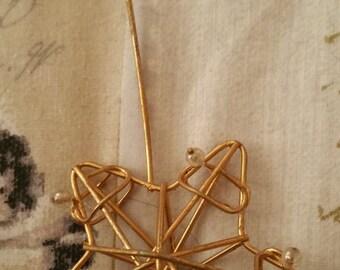 Sale!! / Metal 'Star' Decoration / christmas / Set of 3 / Christmas tree dec