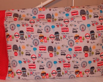 London Flannel Pillowcase~Standard Size