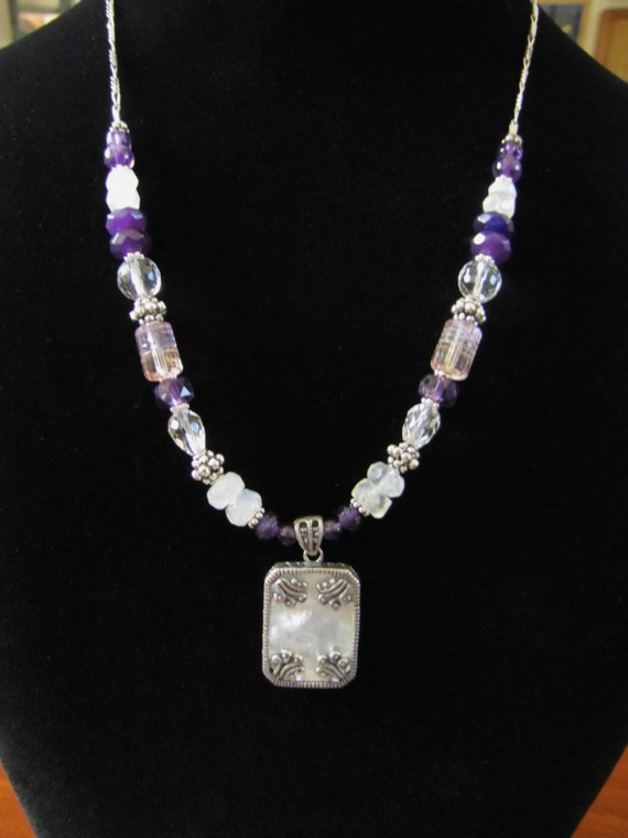 Mother of Pearl, June Birthstone, One with the Goddess, Crown Chakra, Sterling Silver, Sedona, Charged. Yoga, Healing, Affirmation