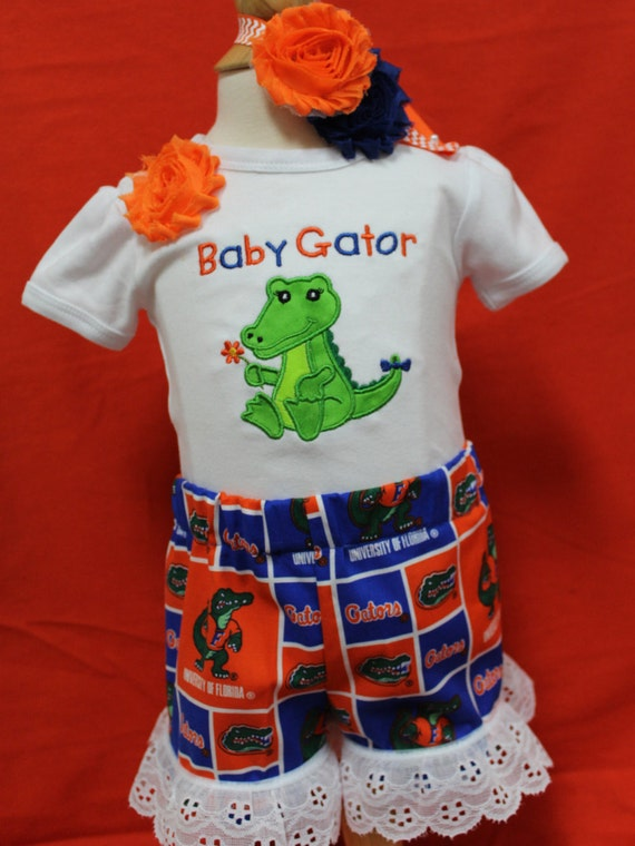Baby Gator Girl Outfit Gator Girl Outfituf By Dollywollysewing