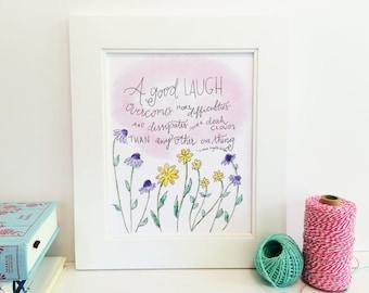 Inspirational quote - Laura Ingalls Wilder - quote print - 8x10 - LIQ