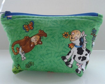 Handmade cosmetic, make up bag or small wash bag