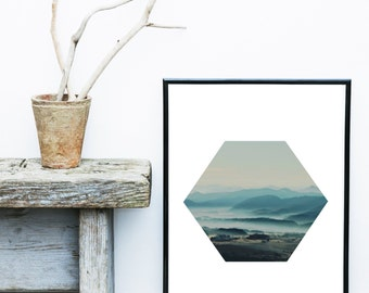 Coastal Photography, Printable Art, Sea Photo, Downloadable, Minimalist, Atmospheric, Wall Art, Wall Decor,