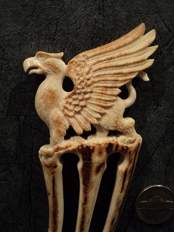 Sale old price deer antler carving hair