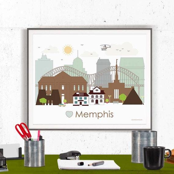 Memphis print memphis poster wall art memphis by Home decor stores memphis tn
