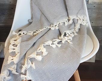 XL Turkish Towels, Linens, Throws, Hand Loomed, Boho Decor, Beach, Baby Blanket, Turkish Blanket