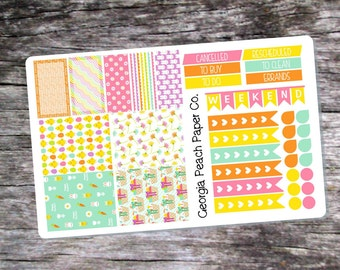 Easter Themed Planner Stickers - Made to fit Vertical Layout