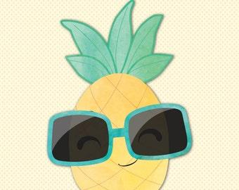 Pineapple stencil | Etsy