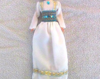 Modest Barbie Clothes, Modest Barbie Dress, Barbie Fashion, Modest Barbie Gown,Pants-Shoes-Scarf, Modest Barbie Doll, Girl's Birthday Gift