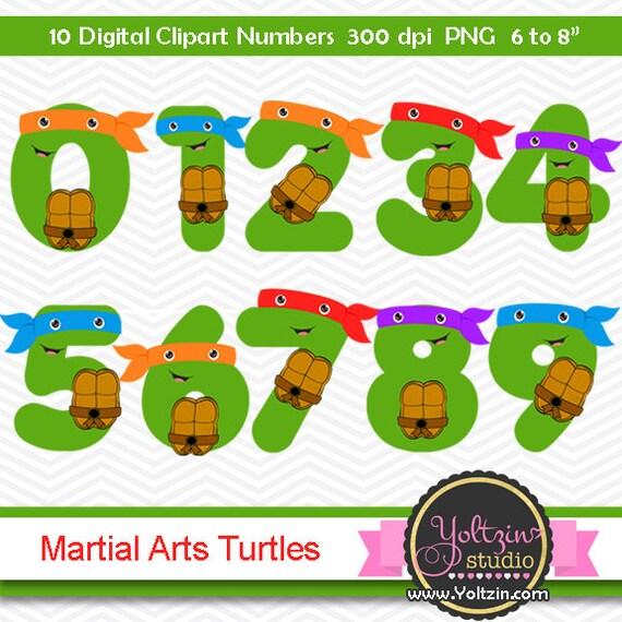 Ninja Turtles Clipart Numbers Clip Art Digital Png Images