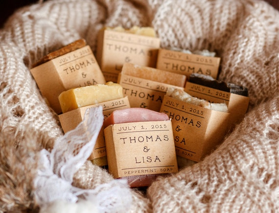 Personalised Wedding Gifts For Guests: 20 Shower Favors Personalized Gift Wedding Favor Soap Bridal