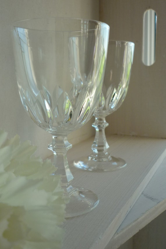 "Set of 4, J G Durand Cristal d'Arques ""Luxembourg"" vintage cordial glasses, wedding, housewarming, anniversary dinner party celebration"