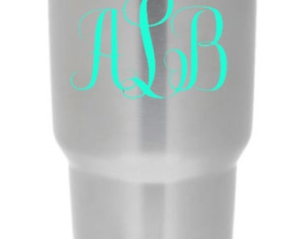 monogram for yeti, Yeti monogram sticker, yeti decal, yeti monogram , monogram decal, monogram sticker, custom yeti decal-yeti tumbler decal