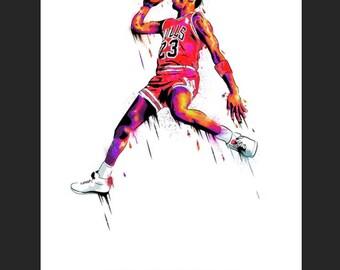 Michael Jordan Print 6'' x 4''