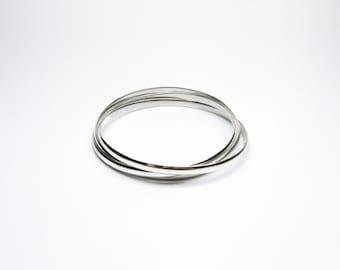 Bangle 3 set Silver 925 Bangle bracelets