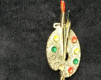 Vintage Gerry's Artist's Palette brooch