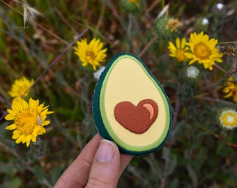 Avocado Patch - Vegan Butter -Embroidered Iron on Badge