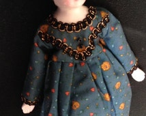 Antique Victorian China Doll Fabric Body Germany 1890s