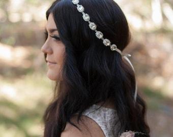 Bridal Rhinestone Headband, Bride Headband, Rhinestone Headband, Rhinestone Headpiece, Crystal Headpiece, Crystal Headband, Bridal Headband