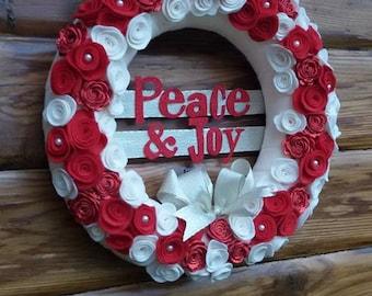 Christmas Wreath, Felt Wreath,  Holiday Wreath, Christmas Decorations, Luxury Wreath, Winter Wreath, Holiday Decor, Wreath for Door