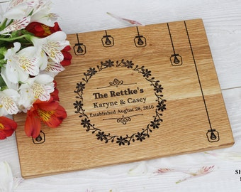 Wedding Gift Personalized cutting board Rustic wedding  Personalized Custom Monogram cutting board Anniversary Gifts Bridal Shower Gift