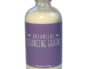 Facial Cleanser, Cleansing Grains, Exfoliating, Organic Herbs, Clay, Gentle, Sensitive Skin