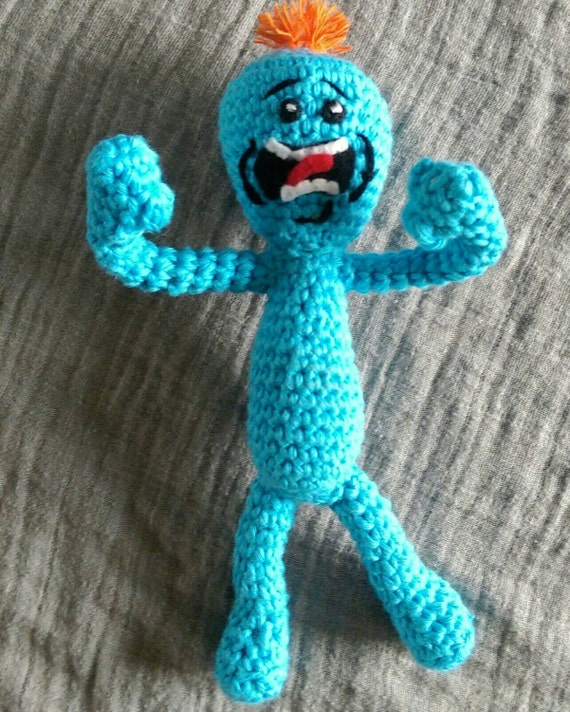 Amigurumi Rick And Morty : Mr Meeseeks: Rick & Morty crochet amigurumi