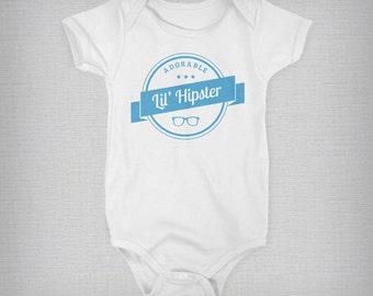 Hipster Baby, Baby Onesie, Hipster Onesie, Funny Baby Onesie, Baby Boy, Baby Girl, Baby Gift, Unique Onesie, Retro Onesie
