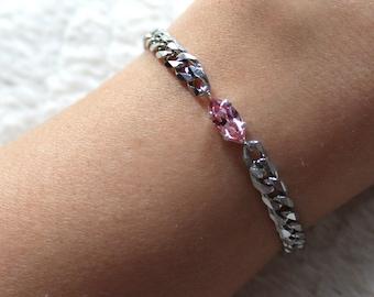 Crystal Eye Bracelet - Stainless Steel