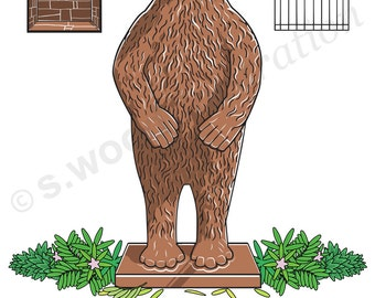 Sheffield Botanical Bear - Ltd Giclee Print