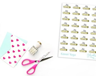 Kawaii Yoga Exercise Planner Stickers for Erin Condren, Plum Planner, Inkwell Press or Filofax Planners
