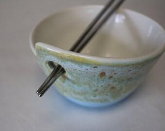 Seafoam Chopstick Bowl
