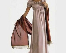 Regency Dress, Pride and Prejudice Jane Eyre Jane Austen Evening Gown, Empire Waist Dress, Alternative Wedding Made to Order Color Options