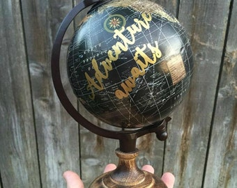 DECAL-Adventure Awaits Decal-Adventure-Wanderlust-Globe DIY