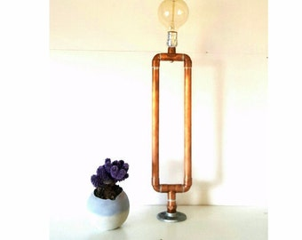 Industrial Pipe Lamp Copper Table Lamp
