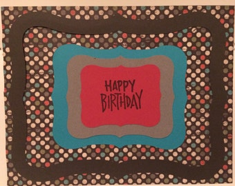 Happy Birthday Card - Geometric 1