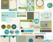 Pet Scrapbook Pocket Cards / Dog and Cat Scrapbook Kit / Journal Cards