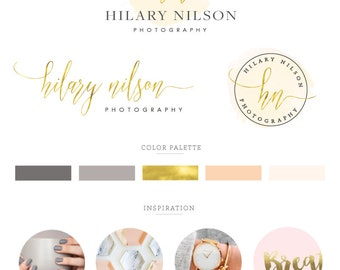 Logo design, branding package, branding kit, business design, logo design custom, watercolor logo, blog , wedding , feminine, photography