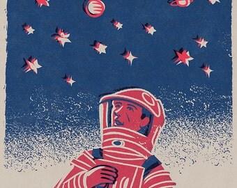 2001 A Space Odyssey movie Space Print