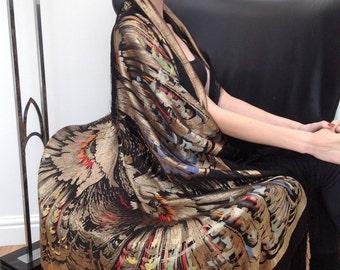 Exceptional 1920s lame piano shawl antique vintage flapper Art Deco