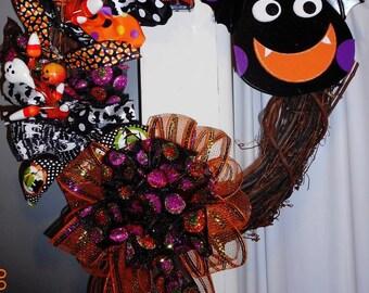 Front Door Decor, Halloween Wreath, Halloween Door Decor, Halloween Decor