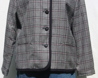 Vintage 1980's Checkered Jacket