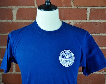 Blue and White San Francisco Fire Department T Shirt Tee Sz M