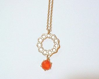 Star circle necklace