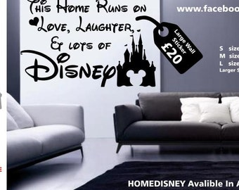 Disney wall decal home love wall sticker