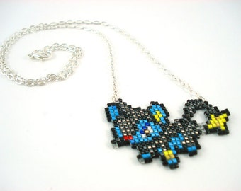 Luxio Necklace - Pokemon Necklace Pokemon Jewelry Pixel Necklace Video Game Necklace 8bit Jewelry Geeky Gifts Anime Necklace