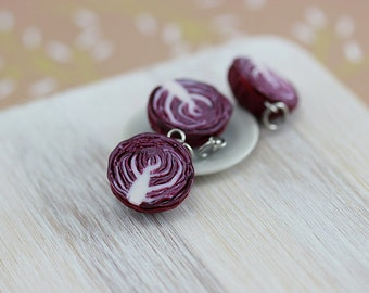 Red Cabbage Charm / Pendant
